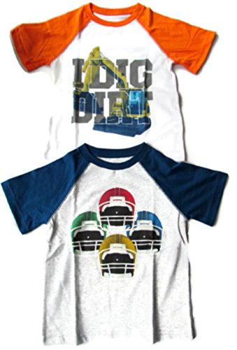 Boys Novelty Short Sleeve T Shirt Football Digger Tee (3T, Football Dirt Digger)