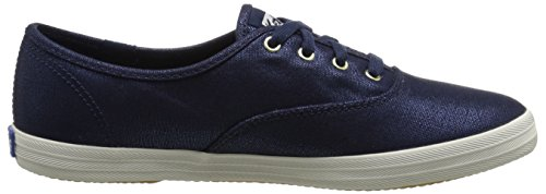 Keds Frauen Champion Metallic Canvas Mode Sneaker Peacoat Marine