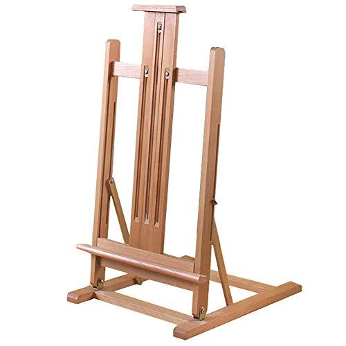 BSNOWF-イーゼル アーティストイーゼルスタンド、木製図面表示フロア/テーブルトップのための調整可能な高さ広告ブラケット
