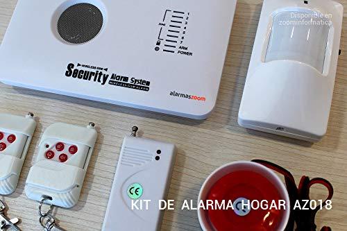 ★Alarma AZ018 casa hogar negocio GSM sin cuotas inalámbrica. Voces en castellano.Sin cuotas de conexión. Aviso llamada o SMS. Instrucciones ...