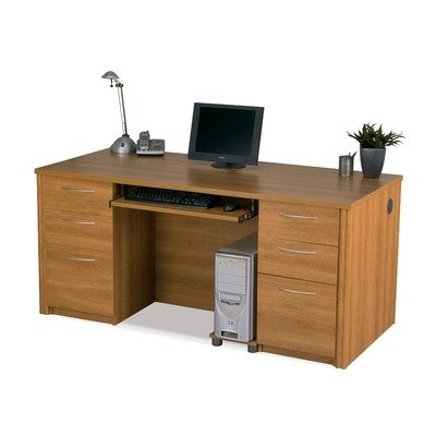 UPC 063753038355, Bestar Embassy Executive Desk with Pedestals in Tuscany Brown