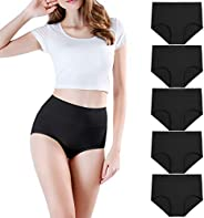 wirarpa Women's High Waist Cotton Underwear Full Coverage Briefs for Postpartum Recovery C-Section Pan