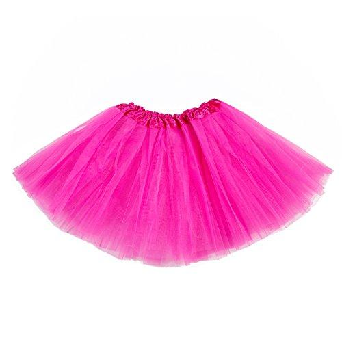 belababy Tutu Skirt for Girls 5 Layers Halloween Dress 2-8T Rose