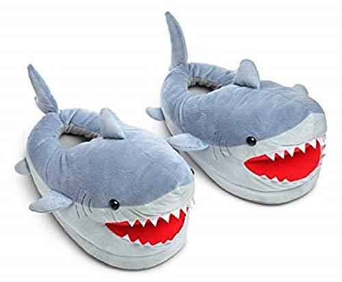 Chomping Shark Plush Slippers for Grown Ups -