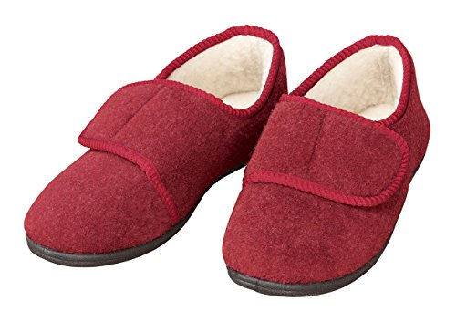 Adjustable Slipper EasyComforts Maroon Indoor Outdoor TPOOZw
