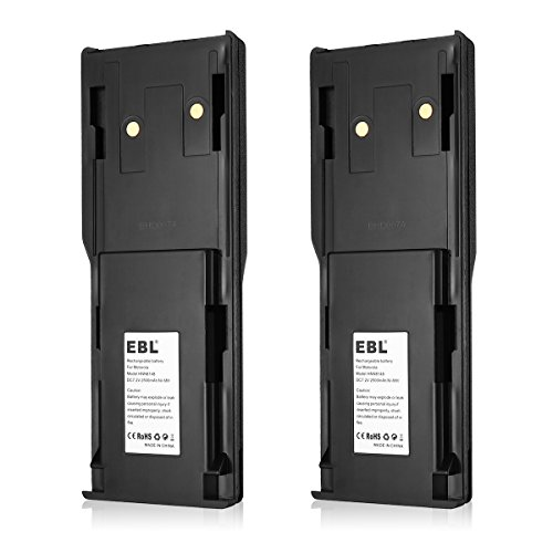EBL HNN8148, HNN8148A Two-Way Radio Battery for Motorola P110, P-110 Radius 7.2V 2500mAh Ni-MH Rechargeable Battery 2 Pack (Radius P110 Two Way Radio)