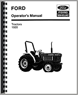 Heavy Equipment Manuals & Books FORD NEW HOLLAND 1920 TRACTOR ...