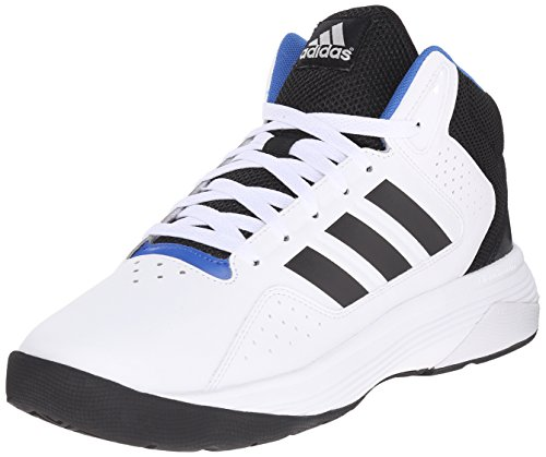 adidas NEO Men's Cloudfoam Ilation Mid Basketball Shoe,White/Black/Metallic Silver,10.5 M US