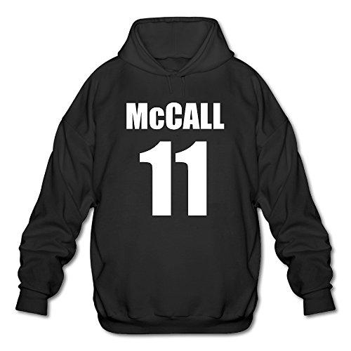 PHOEB Mens Sportswear Drawstring Hoodies Outwear Jacket,Mccall 11 NO.11 Logo Black Small -