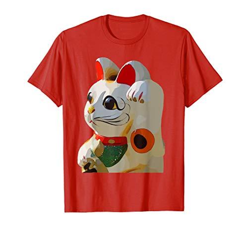 Maneki Neko Good Luck Feng Shui Lucky Cat T-Shirt
