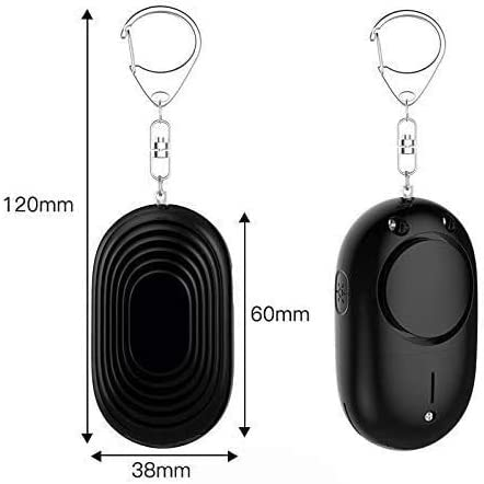 T-PWR Personal Alarm for Women Keychain with LED Light 130db Siren Self Defense Keychain Safety /& Security Emergency Device