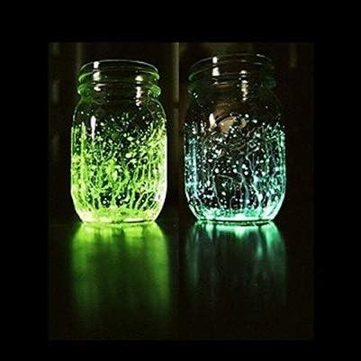 Multicolor Graniglia//Sabbia in vetro fluorescente fosforescente che si illumina al buio per decorazione 1//2mm 100 Grammi StickersLab