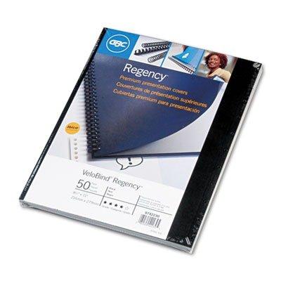 Presentation Cover Corner Square (GBC VeloBind Leather Look Premium Presentation Covers, Non-Window, Square Corners, Black, 50 Pieces Per Box (9742230))