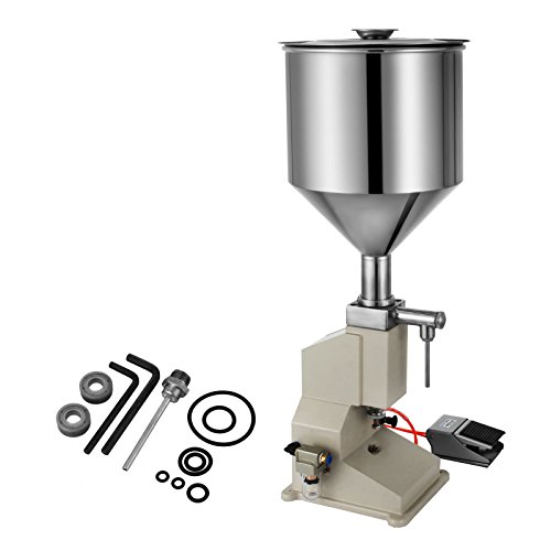 Happybuy A02 Pneumatic Liquid Paste Filling Machine 5~50ml Liquid Filling Machine for Cream Shampoo Cosmetic(A02) by Happybuy