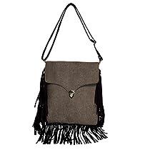 Spice Art Grey Unisex Denim Cross Body Handbag