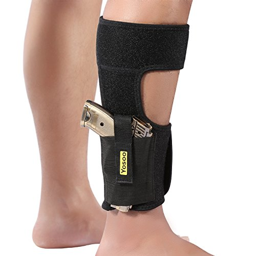 Ankle-Holster-Adjustable-Neoprene-Elastic-Wrap-Concealed-Ankle-Carry-Gun-Holster-with-Magazine-Pocket-for-Small-Frame-Pistol-Handgun-by-Yosoo-Fits-Men-Women-Black