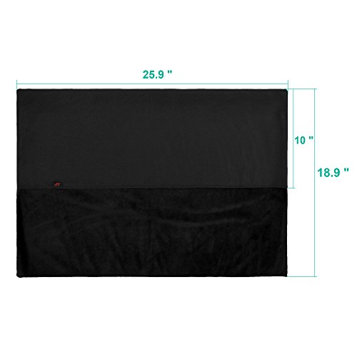 Lightning Power - Premium Protective Dust Screen Cover Sleeve with inner soft lining for Apple iMac (27 Inch, Black) by Lightning Power (Image #3)'