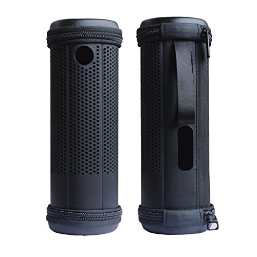 Pushingbest Carrying Case for Amazon Tap Speaker Hard PU Customerized Parts Fits Cables and Charging Dock (Hard PU Black)
