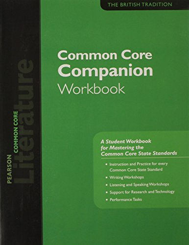 PEARSON LITERATURE 2015 COMMON CORE COMPANION WORKBOOK GRADE 12
