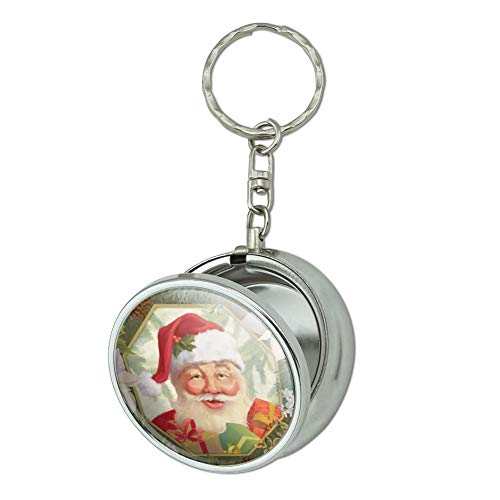 GRAPHICS & MORE Christmas Holiday Festive Jolly Santa Claus Portable Travel Size Pocket Purse Ashtray Keychain with Cigarette Holder