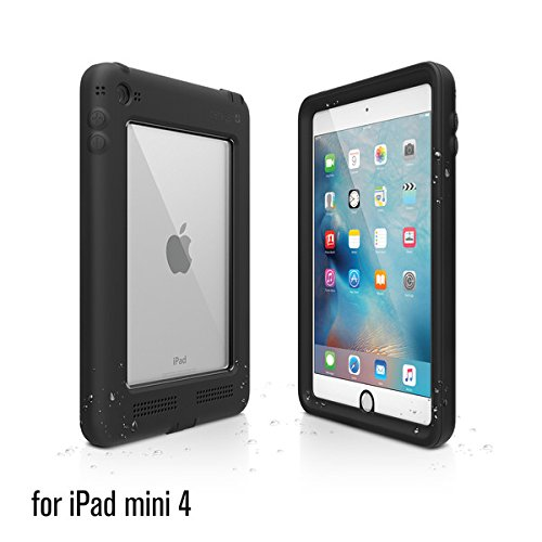 Catalyst Premium Quality Waterproof Shockproof Case for Apple iPad Mini 4 (Stealth Black) with High Touch Sensitivity ID and Multi Position Stand