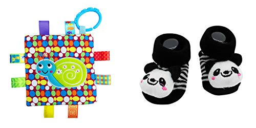 New Cute Baby Kung Fu Panda Socks & Little Taggie Snail Blanket Theme 2-Pack 3-12 Months w/Gift Box ()