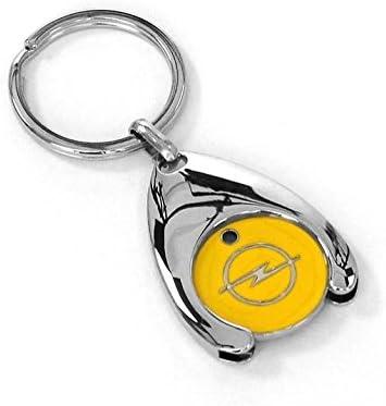 O P S L Llavero ficha para el carro de la compra color amarillo