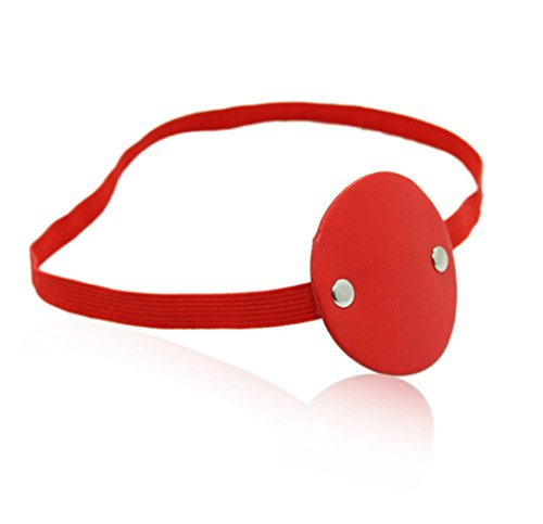 Sexy Funny Red Eye Mask Circular Pirates Masquerade Halloween Cosplay Costume Party Accessories -