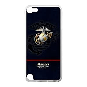 Marine Corps Metal Pattern Anchor Ipod Touch 5 Case Shell Cover (Laser Technology)