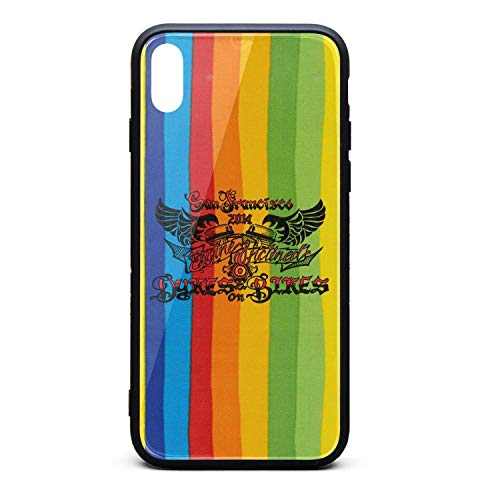 SF Dykes on Bikes on Twitter Phone Case for iPhone X Technological Sense Anti-Fingerprint/Protection/Anti-Fall/Scratch/Whole Body Protection The Protective Shell of The iPhone X Mobile Phone