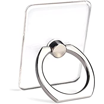 Cell Phone Ring Holder Stand Transparent 4 Pack Finger Grip Loop
