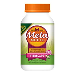 Metamucil Daily Fibre Supplement Fibre Caps 300 Capsules
