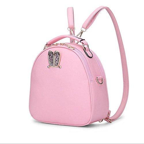 Eysee - Bolso mochila  de poliuretano para mujer rosa