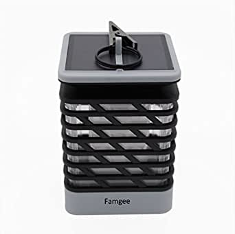 Famgee Hanging Solar LED Lantern Flickering Flame Light for Garden Pathway Deck Holiday Party Christmas Decorations Waterproof