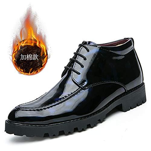 Inglese Verniciata in Cricket Formali Oxford Martin Peluche Scarpe Scarpe con Pelle Boots Uomo da da Alto Blue Caldo Aiuta Casual Warm xtwtqUYX