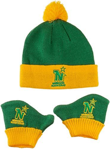 1bbf1e6307ead OTS NHL Minnesota North Stars Pow Knit Cap   Mittens Set