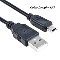SLLEA USB Charging Cable Power Cord for Jumbl JU-SC01 JUSC01 JU-SC01B JU-SC01BL JU-SC01GR JU-SC01O JU-SC01PI JU-SC01P JU-SC01R JU-SC01S Mini Hidden Spy Camera Radio Clock