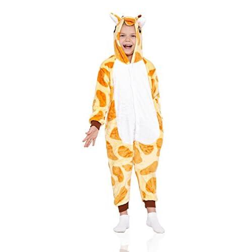 44f5356b98a2 Nothing But Love Kids Giraffe Pajamas Animal Kigurumi Onesie Plush ...