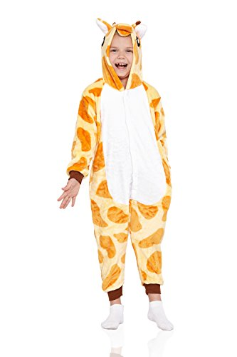 Kids Giraffe Pajamas Animal Kigurumi Onesie Plush Onsie One Piece Cosplay Costume (Large, Giraffe)