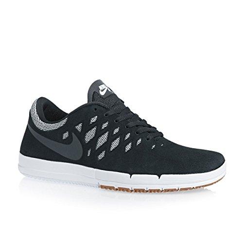 Nike Frauen Free 5.0 Running Sneaker Schwarz Dunkelgrau Weiß 001