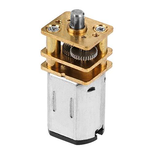 Gear Motor, DC Gear Motor Mini Metal DC Low Speed Motor with Copper Gearing for DIY Robot Models 3-6V Metal Gear -