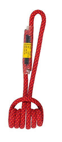 Sterling 19'' 7mm Sewn Prusik (Red w/Orange Stripes, 19'') by Sterling Rope Company