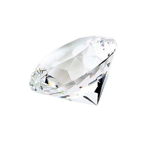 Diamond Shaped Paperweight Glass Art Vintage Millefiori Signed (Millefiori Shaped Glass)