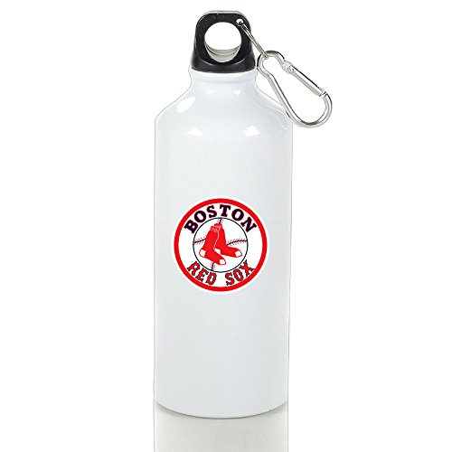 AIJFW Unique American Baseball Team Drinkware Sports Water Bottle - Metallic Finish With Loop Cap For Outdoor And Sport Activities 600ml