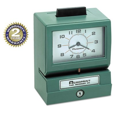 (ACP011070411 - Model 125 Analog Manual Print Time Clock with Month/Date/0-12 Hours/Minutes)