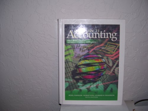 Century 21 Accounting General Journal Approach: Textbook, Chs 1-28