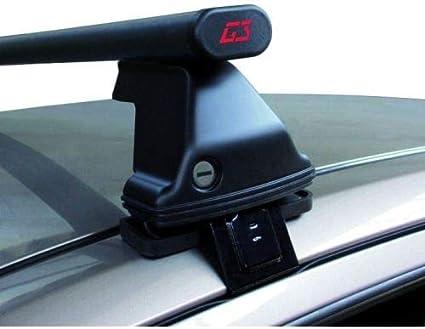 Barras Rack DE Techo para Coche Barra DE 130CM para Coches con Accesorio Directo AL Techo SIN BARANDA Rack DE Techo Acero Negro Aprobado Compatible con Hyundai Ioniq 5p 2020 68.098