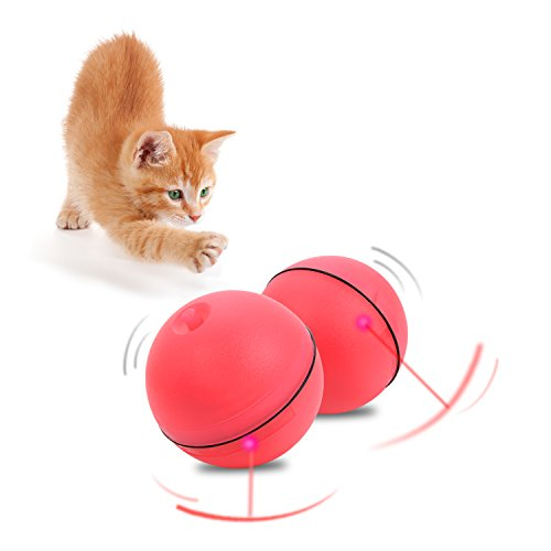 ANYFONG Cat Toys, Interactive Rolling Ball Toys For Cats And Puppy Dogs To Keep Them Busy(9 Batteries Included) 1 Pack