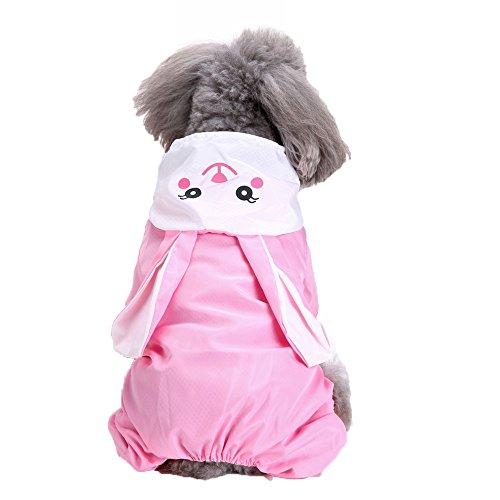 Pet Raincoat,Costume Animal Shape Hoodie Waterproof Rain Jacket Outdoor for Dogs Cats (XS, Pink)
