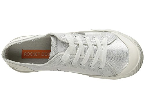 Rocket Dog Women's Jazzin Space Travel Cotton Fashion Sneaker, Silver, 6.5 M US